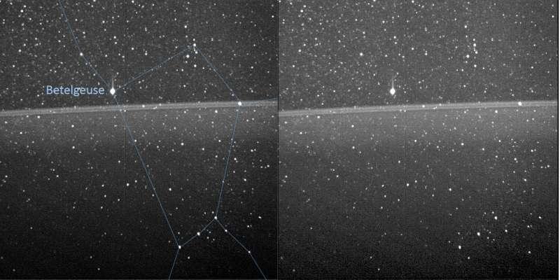 Prima vista in assoluto dei tenui anelli di Giove, dall'interno verso l'esterno.