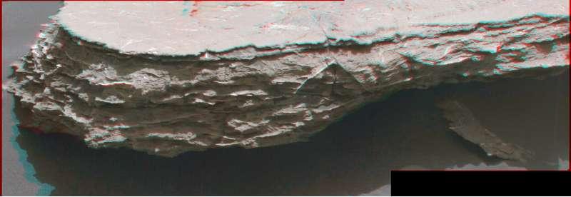 """Sol 1578 - affioramento stratificato """"Megunticook"""""""