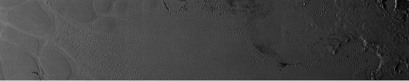 Plutone #PlutoFlyby - mosaico 77-85 metri per pixel