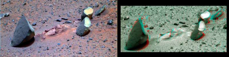 Opportunity Panoramic Camera Sol 4005 det L_2_5_7 ancd anaglyph L 2 R2