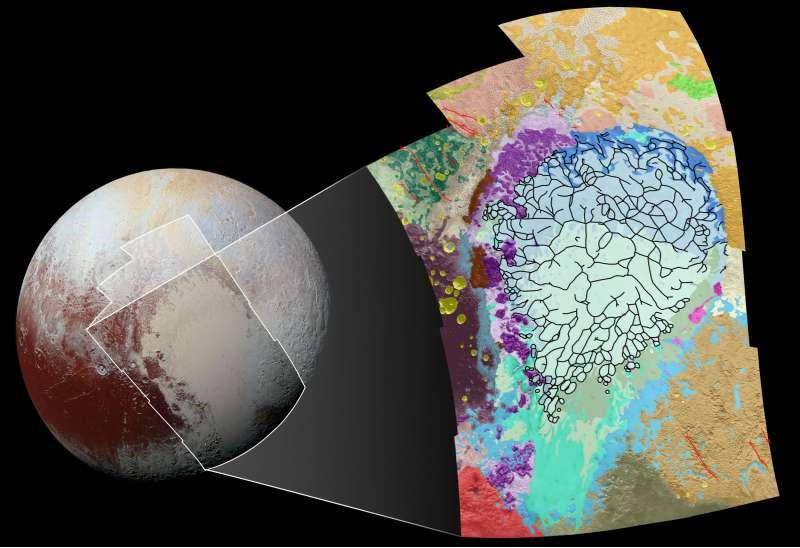 Plutone: mappa geologica Sputnik Planum