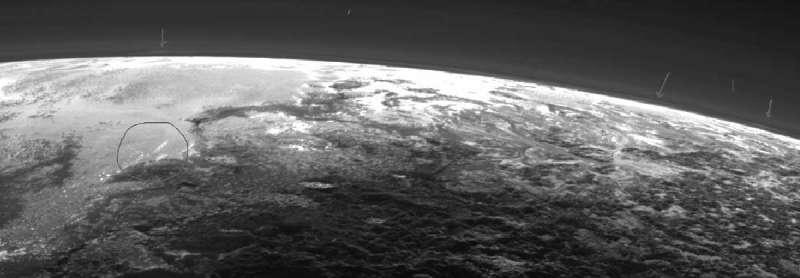 Nuvole su Plutone