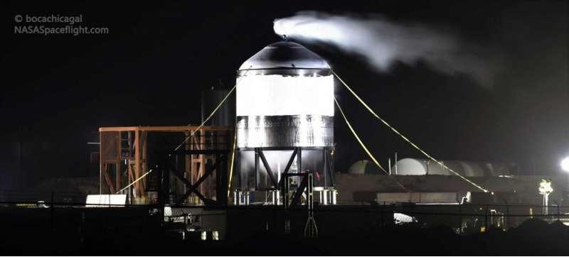 spacex sraship sn02 criogenic test