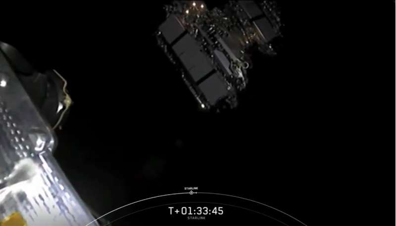 spacex falcon9 starlink9 release