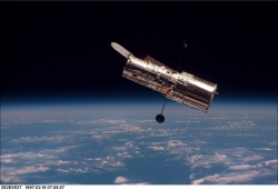 "Hubble durante la seconda ""servicing mission"""